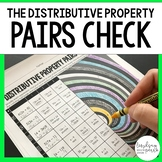 The Distributive Property Pairs Check Activity