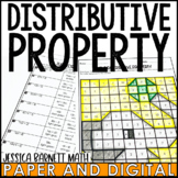 The Distributive Property Activity   Coloring   Distance Learning   Digital