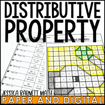 The Distributive Property Coloring Page Activity