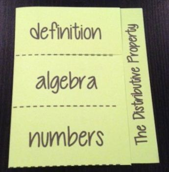 Number Properties Foldable Worksheets Teaching Resources TpT