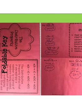 The Distributive Property: Foldable, INB Activity, Practice Sheet, Exit Ticket