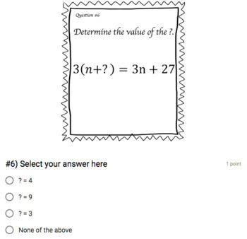 The Distributive Property (Google Form & Interactive Video Lesson!)