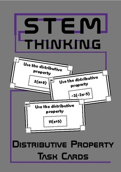 The Distributive Property Math Stations, Centers, Task Cards, Middle School Math