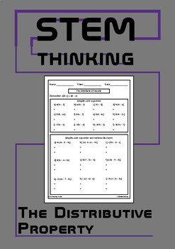 The Distributive Property Middle High School Math Worksheet