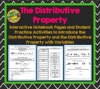 The Distributive Property - With and Without Variables