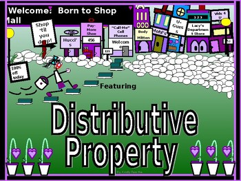 Power-Point:  The Distributive Property in Algebra
