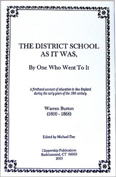 The District School As It Was, By One Who Went To It (1833)