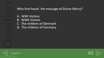 Saint Faustina - The Divine Mercy Review Game