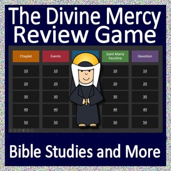 Saint Faustina - The Divine Mercy Review Game | Distance Learning!