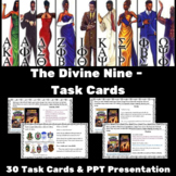The Divine Nine - Black Sororities and Fraternities TASK CARDS