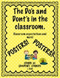 The Do'd and Don'ts in the Classroom. (Classroom Expectations)