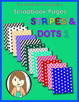 The Doctor's Companion - Stripes & Dots Scrapbook Pages
