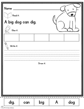 The Dog-A Simple Fry Sight Word Story