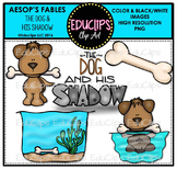 The Dog And His Shadow (Aesop's Fable) Clip Art Bundle {Educlips Clipart}