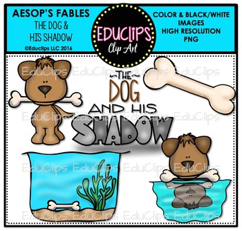 The Dog And His Shadow (Aesop's Fable) Clip Art Bundle ...