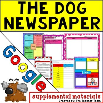 The Dog Newspaper Journeys 5th Grade Unit 4 Google Drive Resource