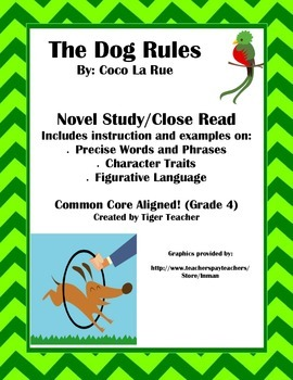 The Dog Rules by Coco La Rue - Novel Study/Close Read