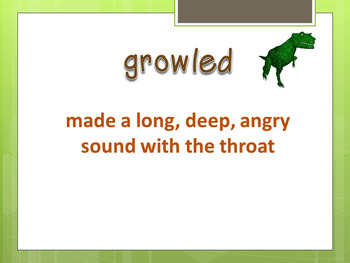 The Dog That Dug For Dinosaurs Interactive Vocabulary Powerpoint