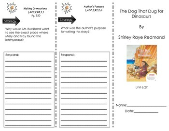 The Dog That Dug For Dinosaurs by Shirley Raye Redmond - Journeys Common Core