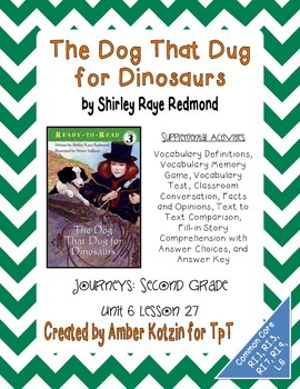 the dog that dug for dinosaurs activities 2nd grade journeys unit 6 lesson 27. Black Bedroom Furniture Sets. Home Design Ideas