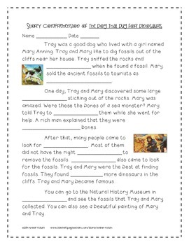 The Dog That Dug for Dinosaurs Activities 2nd Grade Journeys Unit 6, Lesson 27