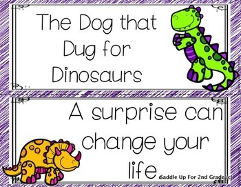 The Dog That Dug for Dinosaurs Focus Wall Anchor Charts and Word Wall Cards