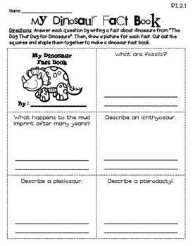 The Dog That Dug for Dinosaurs (Journeys 2nd Grade - Supplemental Materials)