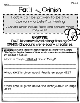 The Dog That Dug for Dinosaurs (2nd Grade - Supplemental Materials)