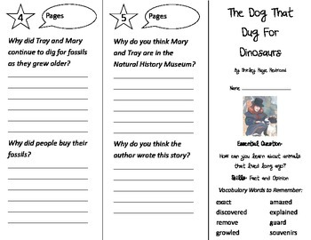 The Dog That Dug for Dinosaurs Trifold - Journeys 2nd Gr Un 6 Wk 2 (2014, 2017)