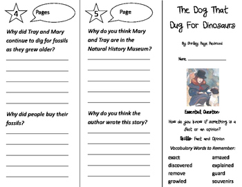 The Dog That Dug for Dinosaurs Trifold - Journeys 2nd Grade Unit 6 Week 2 (2011)
