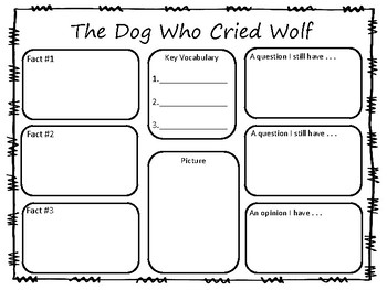The Dog Who Cried Wolf ~ by Keiko Kasza    ~ 29 pgs, Common Core Activities