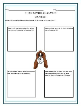 The Dog Who Had Kittens- Inference and Character Analysis Mini Unit