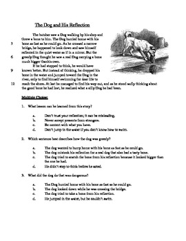The Dog and His Reflection - Literary Text Test Prep