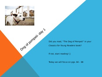 """The Dog of Pompeii"" Powerpoint- Literature Based Lesson"