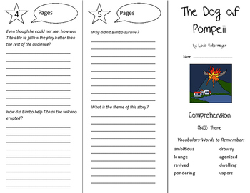 The Dog of Pompeii Trifold - California Treasures 6th Grade Unit 5 Week 2