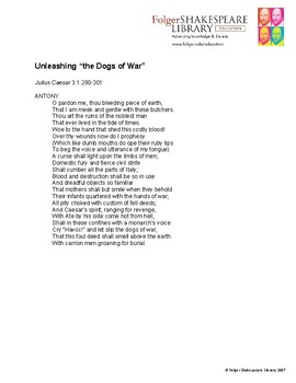 The Dogs of War Soliloquy
