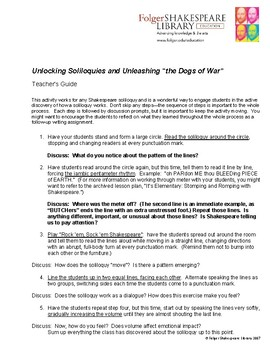 The Dogs of War Soliloquy Teaching Guide