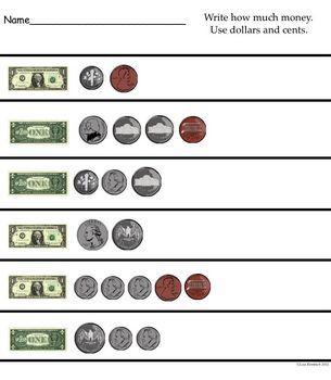 The Dollar Math SmartBoard Lesson Primary Grades
