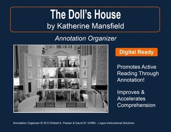 The Doll S House By Katherine Mansfield Annotation Organizer Tpt
