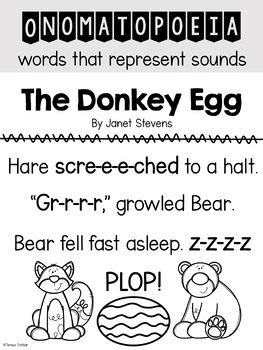 The Donkey Egg ~ A Picture Book Study