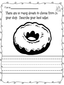 The Donut Chef Writing Activity