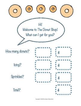 The Donut Shop Math Game