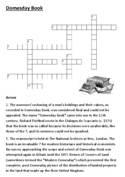 The Domesday (Doomsday) Book Crossword