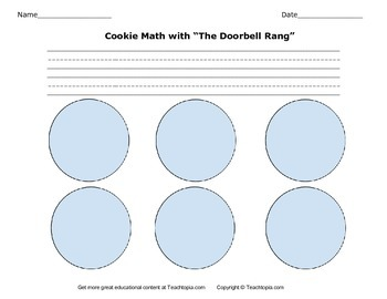 The Doorbell Rang Cookie Math Activity with Directions.  Math and Lang. Arts.