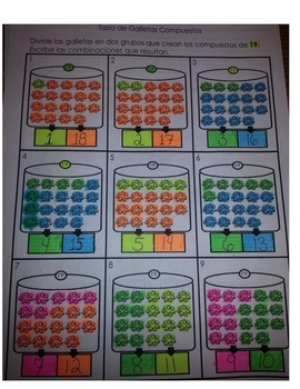 Doorbell Rang Count Compose Numbers 15-20 Eng and Spanish
