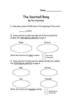 the doorbell rang fraction sets by kaaren adams tpt. Black Bedroom Furniture Sets. Home Design Ideas