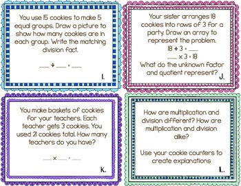 The Doorbell Rang Multiplication and Division Task Cards