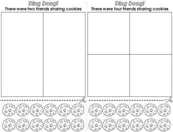 The Doorbell Rang by Pat Hutchins cookie sharing activity and worksheets