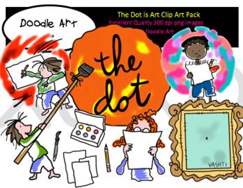 The Dot Art Clipart Pack