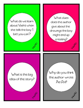 The Dot Comprehension Cards